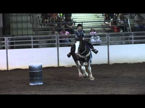 Draft Horse Barrel Racing