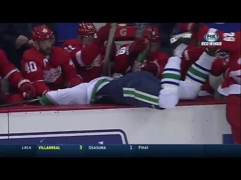 Canucks @ Wings 2/3/14 (Game Highlights - Det Feed)