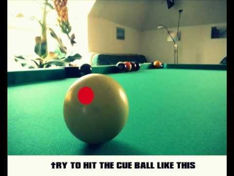 Pool Billiard trickshot  TUTORIAL   // THE CURVE BALL //