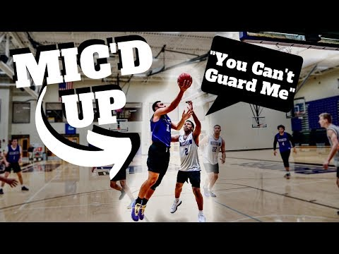 D3 College Basketball Player Mic'd Up On GAME DAY !