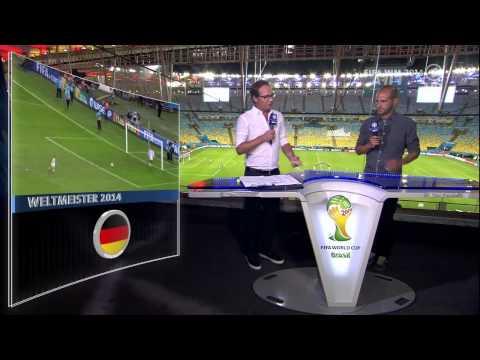 FIFA WM 2014 Lukas Podolski und Sohn beim Elfmeterschießen nach dem WM Finale