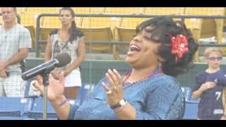 Lady J Huston Singing the National Anthem view on youtube.com tube online.