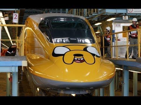 【台灣高鐵】歡樂卡通列車施工過程記錄