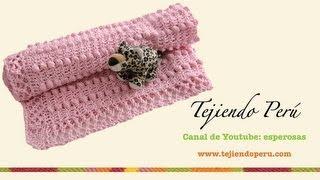 Mantita Para Bebe En Crochet Y Aguja Circular (Parte 1