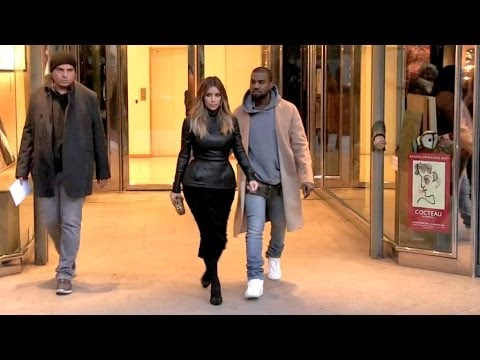 EXCLUSIVE - Kim Kardashian and Kanye West visit a penthouse at the Bristol Hotel in Paris