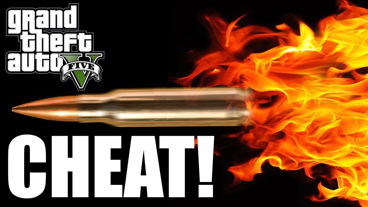 GTA V - FLAMING BULLETS CHEAT CODE! [Xbox 360, PS3] - YouTube