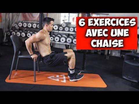 6 exercices avec une chaise (entrainement complet à la maison)