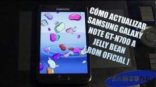 Como Actualizar Samsung Galaxy Note GT-N7000 A Jelly Bean