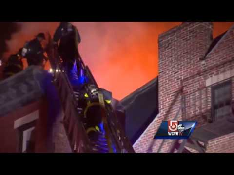Boston firefighter injured battling 2-alarm fire
