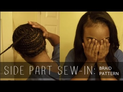 Side Part Sew In With Leave Out Braid Pattern