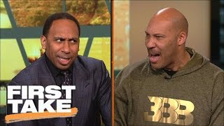 LaVar Ball, Stephen A. Smith Have Intense Shouting Match | First Take | March 23, 2017