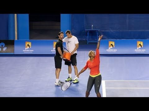 Serena Williams First Practice - Australian Open 2014