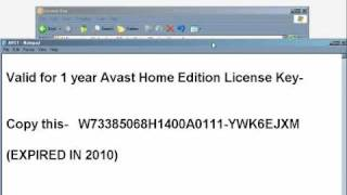 Free Avast License Key