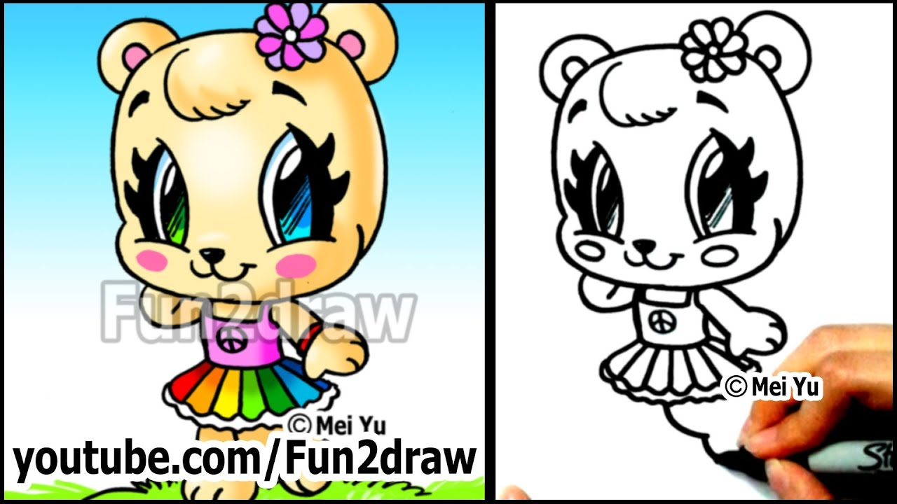 Free coloring pages of fun2draw for Fun to draw cat