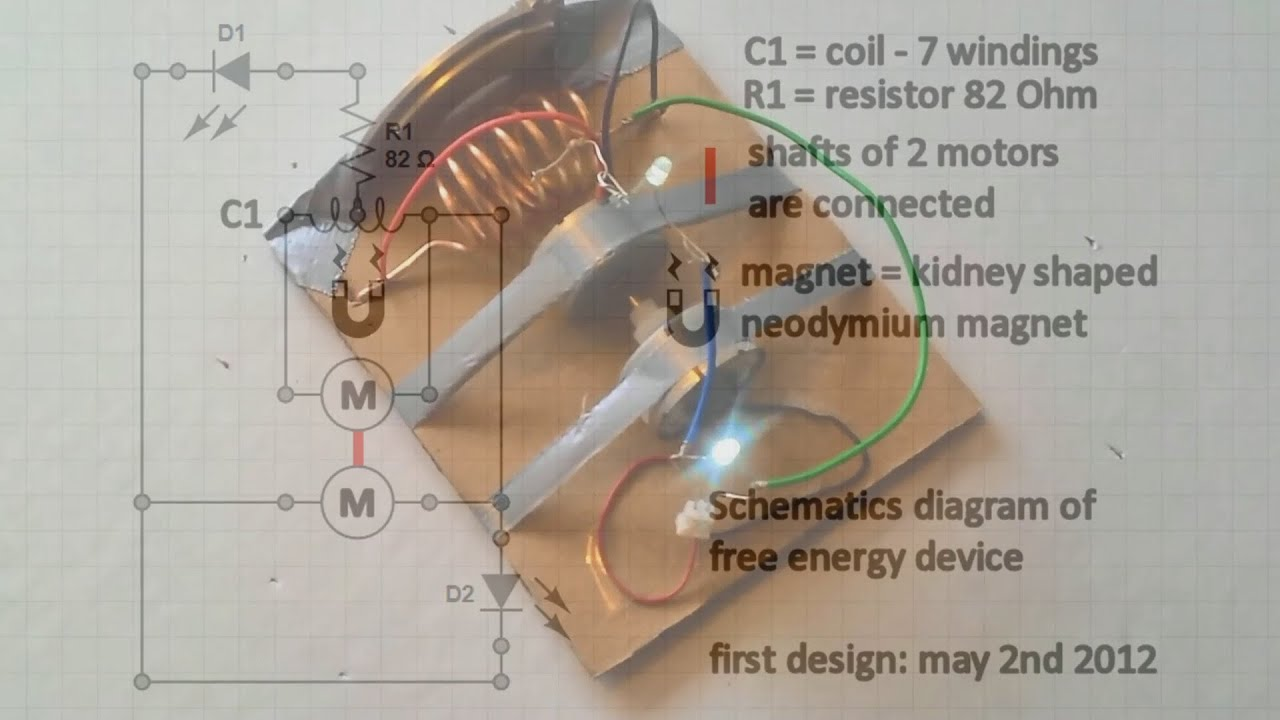 free energy device schematics diagram - YouTube