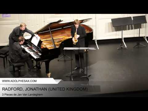 Dinant 2014 – RADFORD, Jonathan (3 Pieces by Jan Van Landeghem)