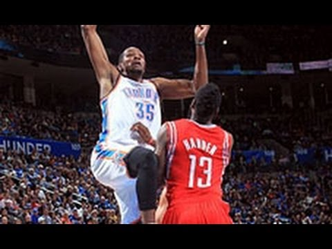 Kevin Durant's BIG Dunk on James Harden