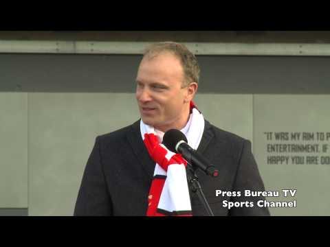 Dennis Bergkamp unveiling of statue