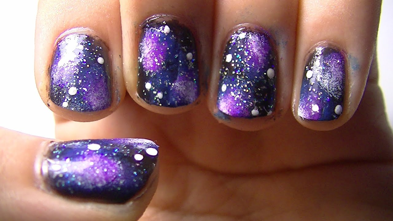 Nail Art Design Ideas Collection Galaxy Nail Art Tutorial