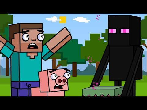 Enderman & The Sky Base | Block Squad (Minecraft Animation)