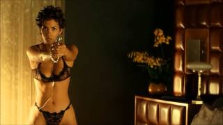 Halle Berry Big Boobs In Black Bra And Panties