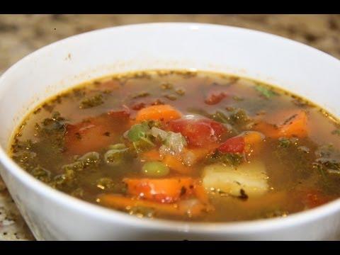 Kale Soup | Vegan | Vegetarian | Organic | Recipe - YouTube