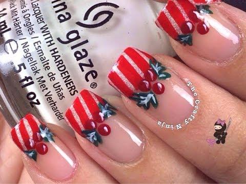 Mistletoe Holly Nails - Fagyöngy köröm