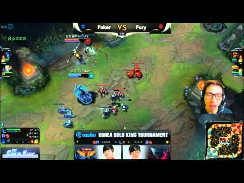 LMHT: Faker vs Fury giải The Solo King 1v1 Hàn Quốc (Game 1)