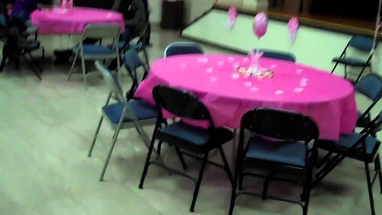 Daina 39 s baby shower cake hall decorations youtube for Baby shower hall decoration