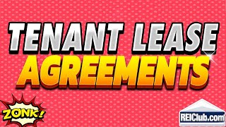 Tenant Lease Agreement Filling Out Tenant Lease