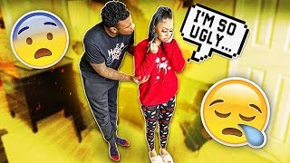 Being Insecure While Pregnant To See How My Boyfriend Reacts **cute Reaction**