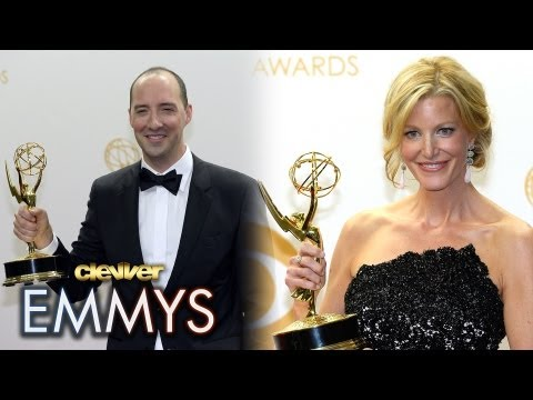 2013 Emmys Supporting Actor & Actress Winners - Anna Gunn, Tony Hale, Merritt Wever