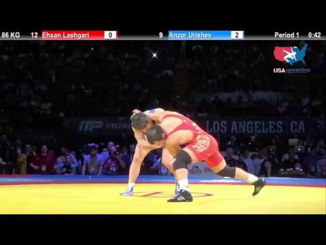 1ST PLACE: 86 KG Eshan Lashgari (Iran) vs  Anzor Urishev (Russia)