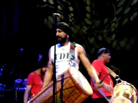 Johnny Kalsi with Dhol foundation at Birmingham Town Hall - April 2011