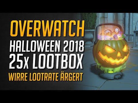 WIRRE LOOTRATE ÄRGERT! | 25 Halloween Terror 2018 Lootboxen ★ Overwatch Deutsch