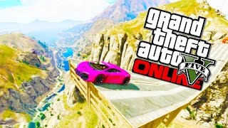 GTA 5 Funny Moments Epic Canyon Jump! Boxing, Impossible