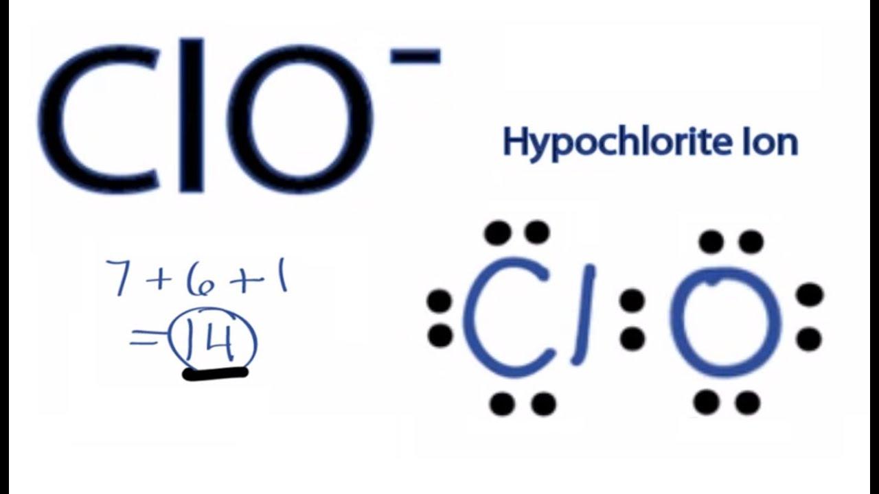 Hypochlorite Ion ClO- Lewis Structure -...