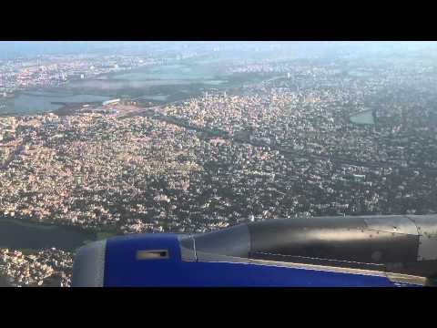 Indigo Airlines AirBus A320 Chennai Takeoff with Marina Beach view