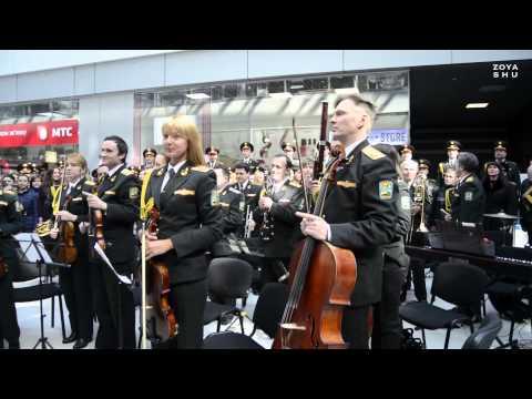 EU anthem played by the Ukrainian Army orchestra / Гимн ЕС от военного оркестра в Киеве