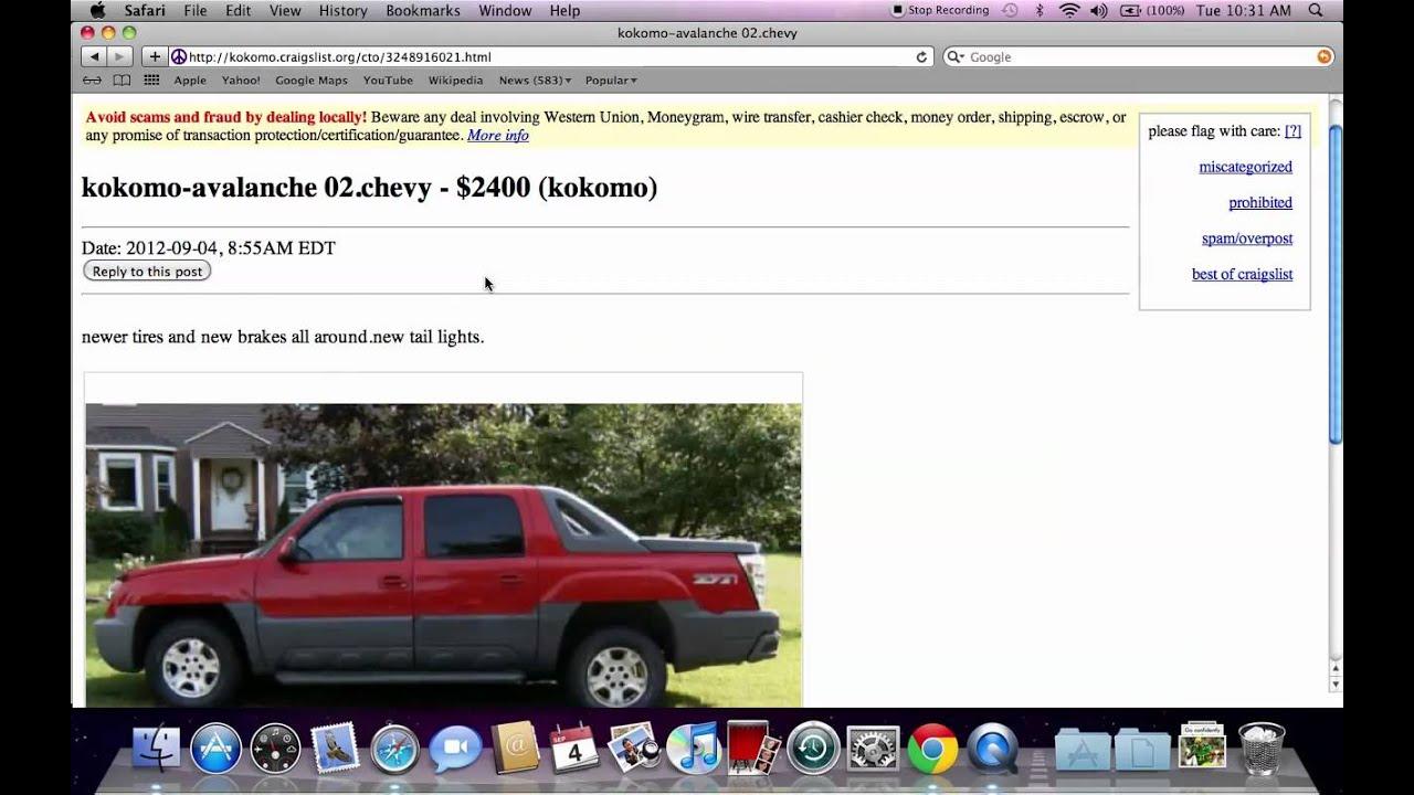 Craigslist Kokomo Indiana Used Cars Ford Chevy And