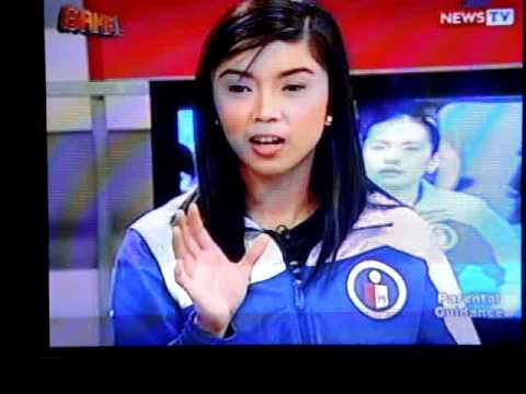 coach charo soriano and fille cainglet on gma news tv's game part 1 [4-17-11]