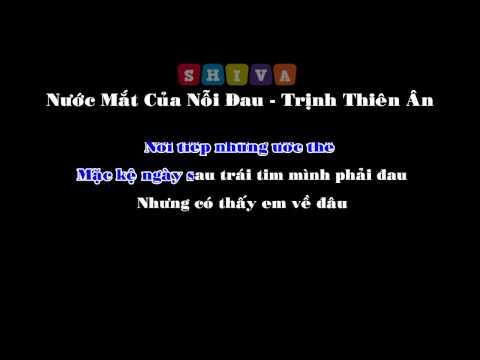 [ KARAOKE ] Nước Mắt Của Nỗi Đau - Trịnh Thiên Ân (Beat Chuẩn)
