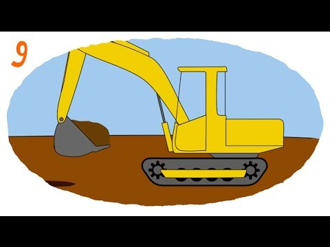 Раскраска строительная техника онлайн бесплатно