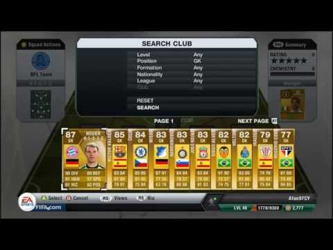 Fifa 13 - Ultimate Team Greek Community Squad Builder!!