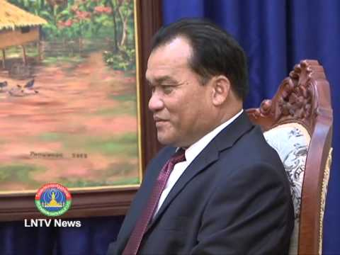 Lao NEWS on LNTV-MICT supports Chinese Yunnan Television cooperation plan.14/8/2013