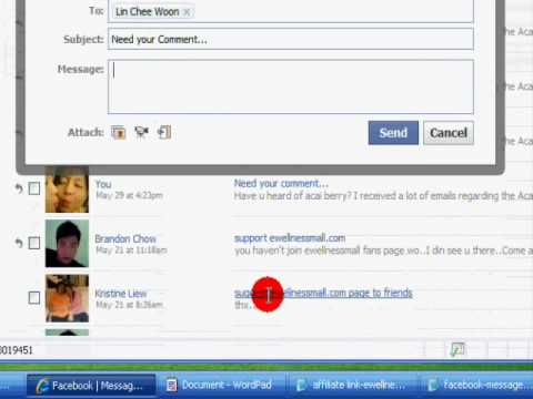 How to promote affiliate link in Facebook- Send Message