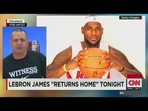 Cleveland fans celebrate LeBron James' return