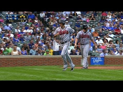 ATL@CHC: Braves score four in ninth to break the tie