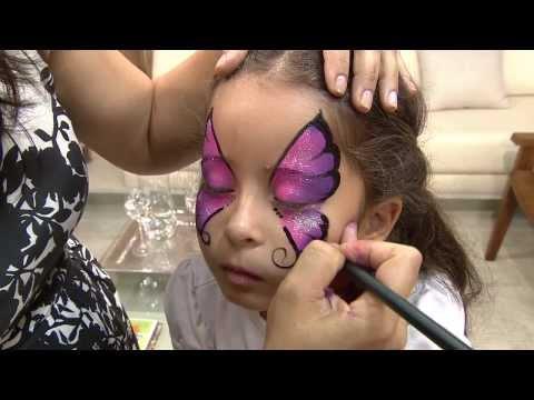 Aprenda a fazer uma bela pintura artística em rosto de criança!