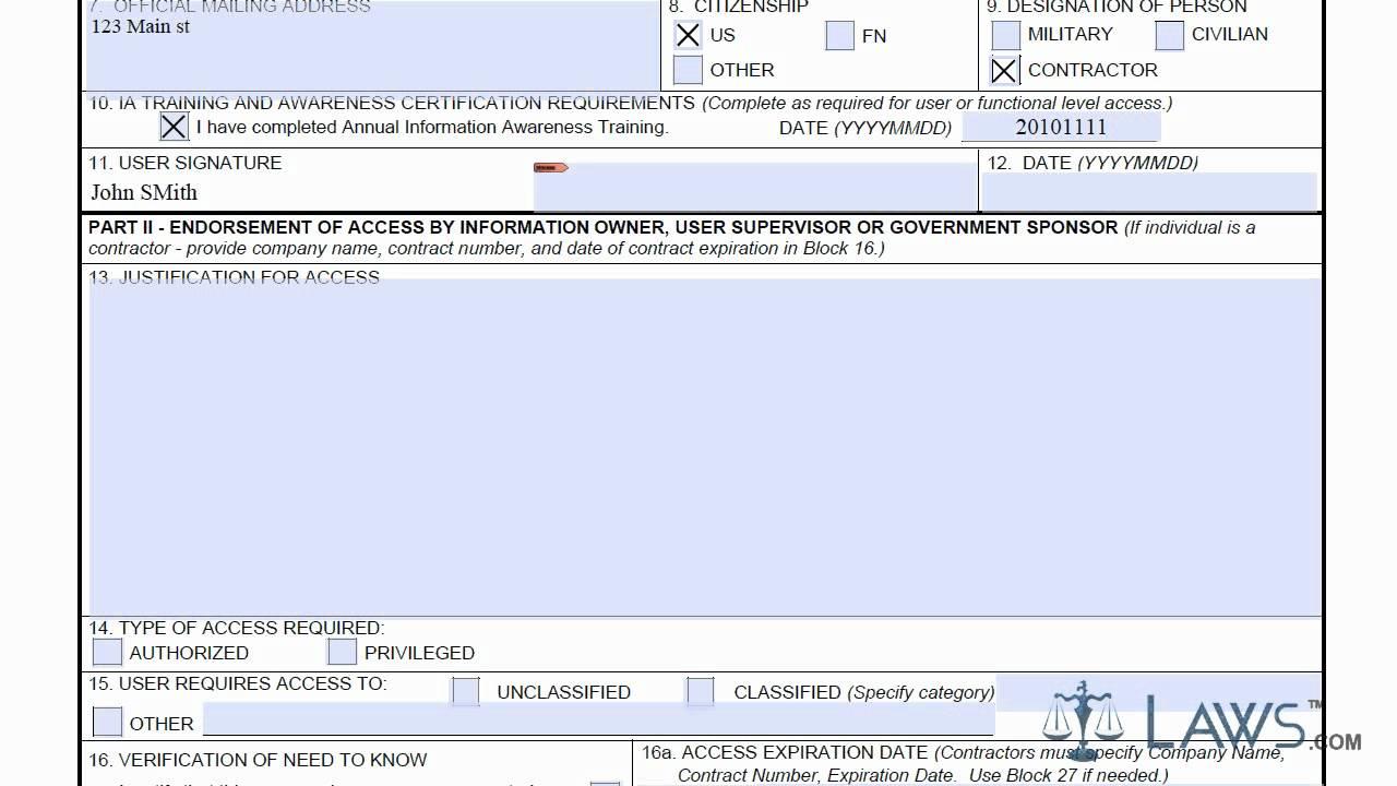 Army dd 2875 form